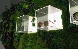 avenue optics brillen presentatie mos wand